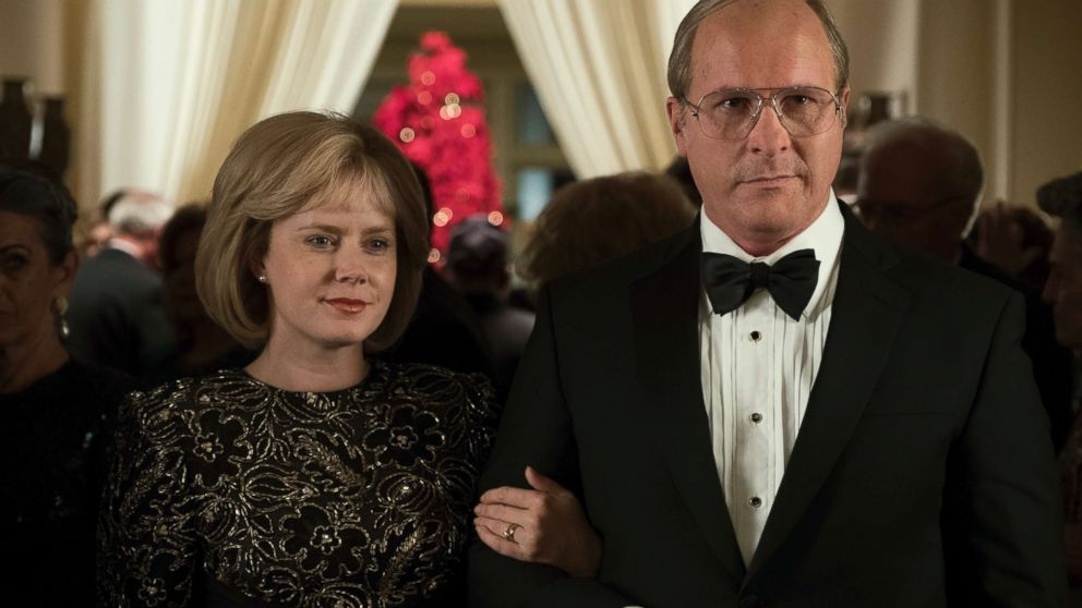 "Amy Adams as Lynne Cheney and Christian Bale as Dick Cheney in ""Vice."""