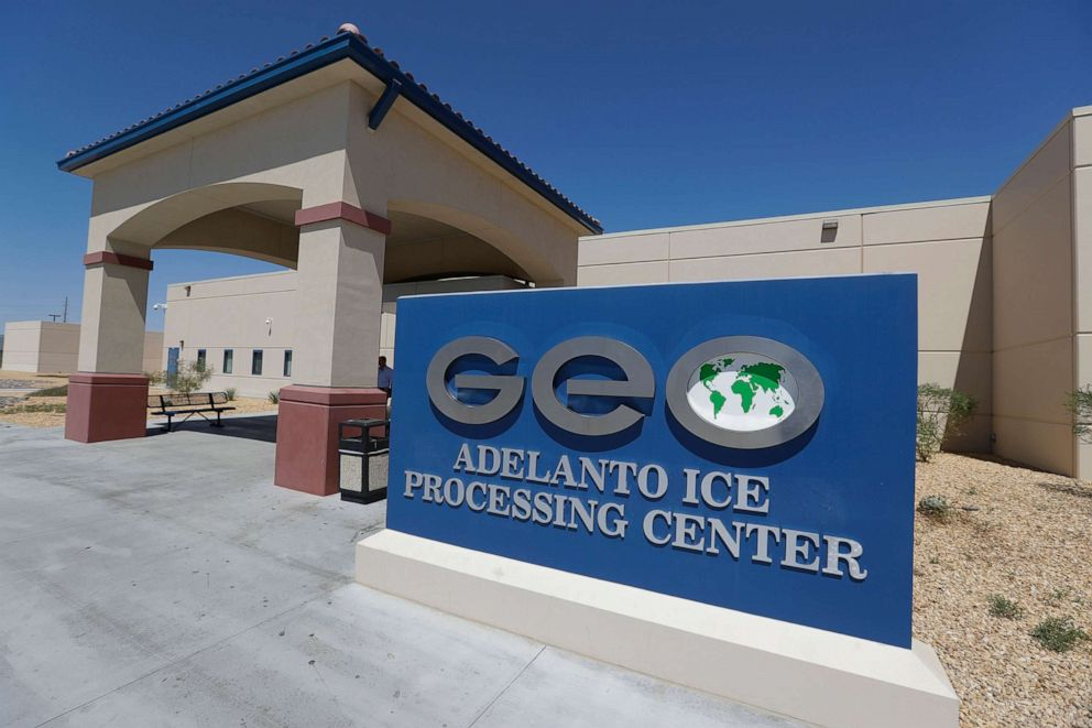 PHOTO: The Adelanto Immigration and Enforcement Processing Center in Adelanto, Calif., Aug. 28, 2019.