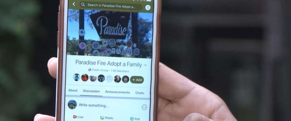 "PHOTO: Rocklin County, California, resident Eric Lofholm and his wife, Heather Lofholm, have created an ""Adopt a Family"" initiative to match victims of the Camp Fire with people who have the resources to help."