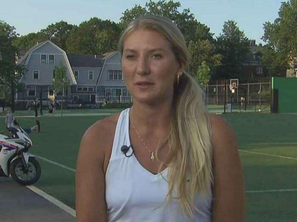 PHOTO: Aia Polansky, 33, confronted a man she says flashed her while she was jogging in Cambridge, Mass., on Thursday, July 18, 2019.
