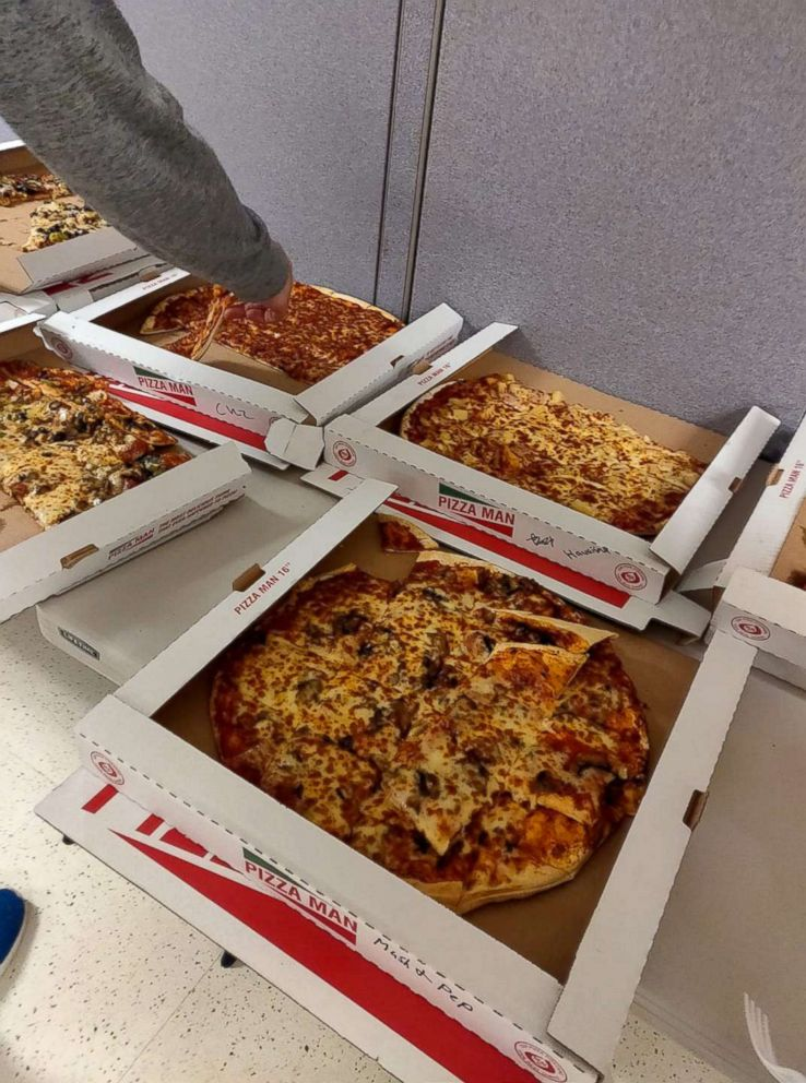 PHOTO: Air traffic controllers were sent pizzas from their Canadian counterparts as part of a show of solidarity amid the ongoing U.S. government shutdown.