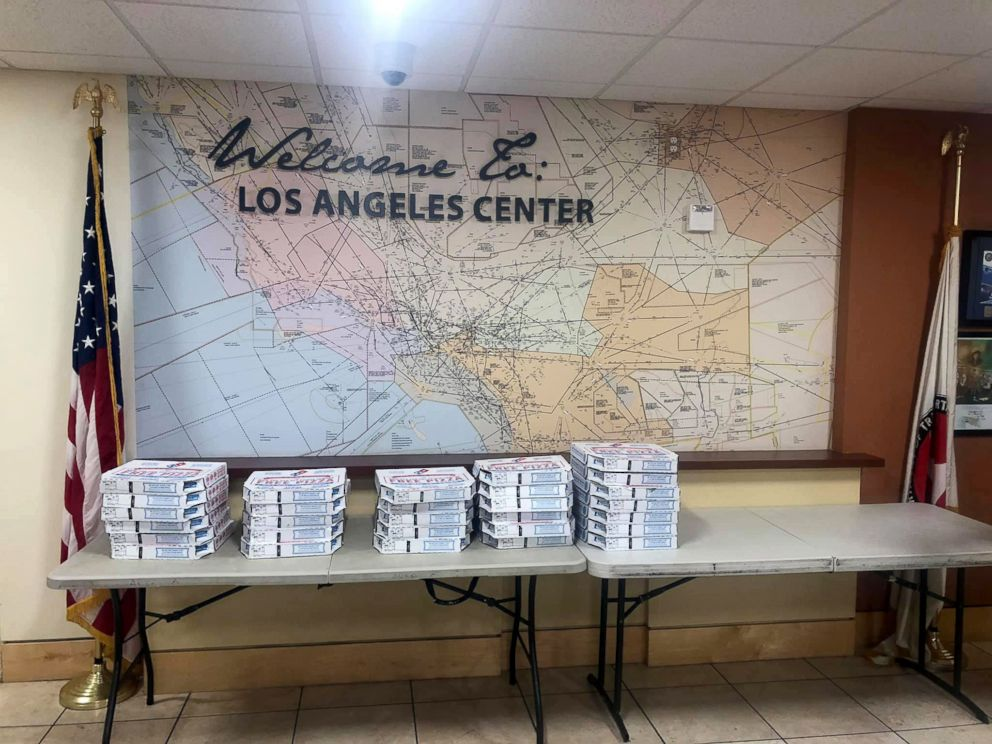 Los Angeles were sent pizzas from their Canadian counterparts as part of a show of solidarity amid the ongoing U.S. government shutdown