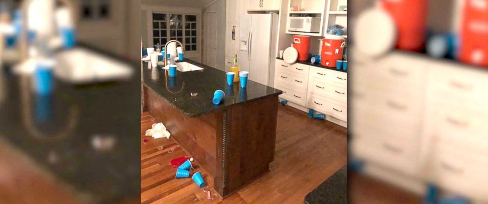 PHOTO: Inside of the McGovern familys home that they say was damaged by an Airbnb guest that threw a party.