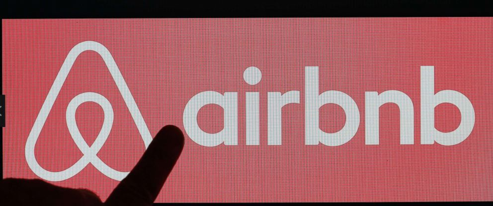 PHOTO: Airbnb logo is displayed on a laptop screen on Dec. 11, 2017 in Paris.