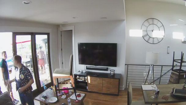 Airbnb guests caught on camera breaking into neighbor's home, police said