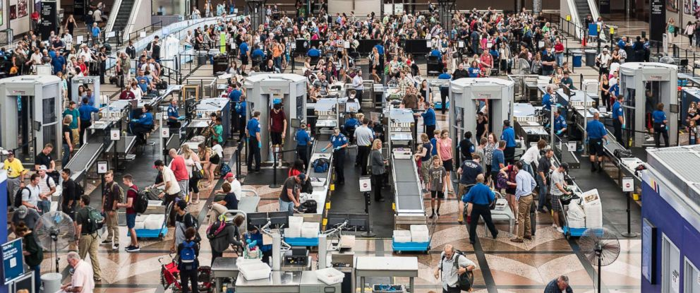PHOTO: TSA security check is pictured at Denver international airport in this July 19, 2016 file photo.