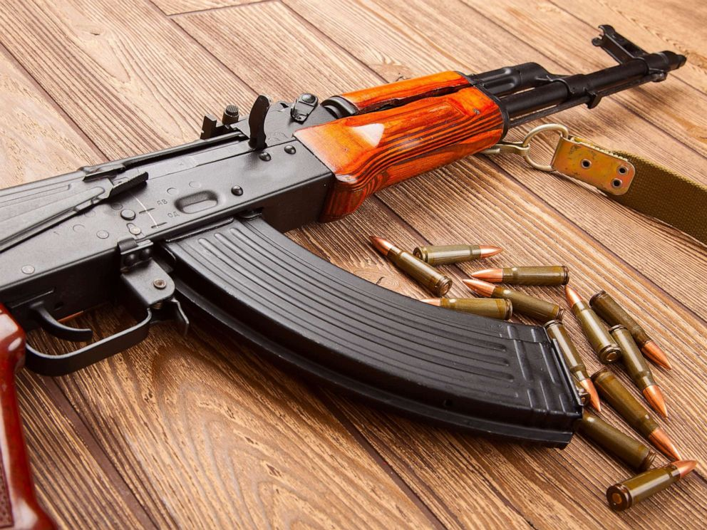 PHOTO: An AK-47 assault rifle and ammunition are pictured in an undated stock photo.
