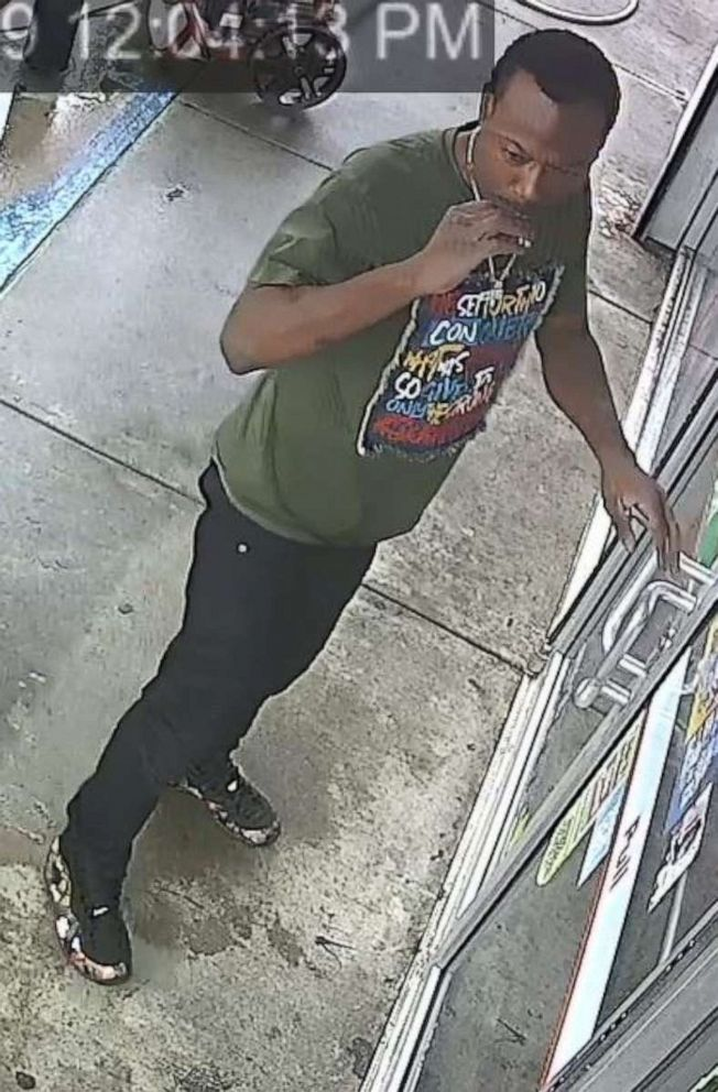 PHOTO: Police are searching for a suspect seen in surveillance video they believe may have kidnapped 3-year-old Kamille �Cupcake� McKinney around 8:30 p.m. Saturday, Oct. 12, 2019, night in Birmingham, Ala.