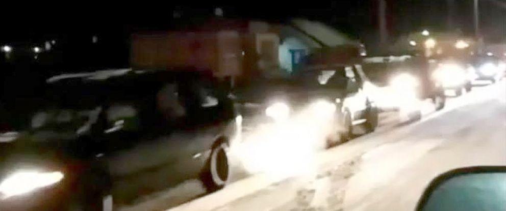 PHOTO: Cars evacuate Kodiak, Alaska, Jan. 23, 2018, after an earthquake struck off the coast.