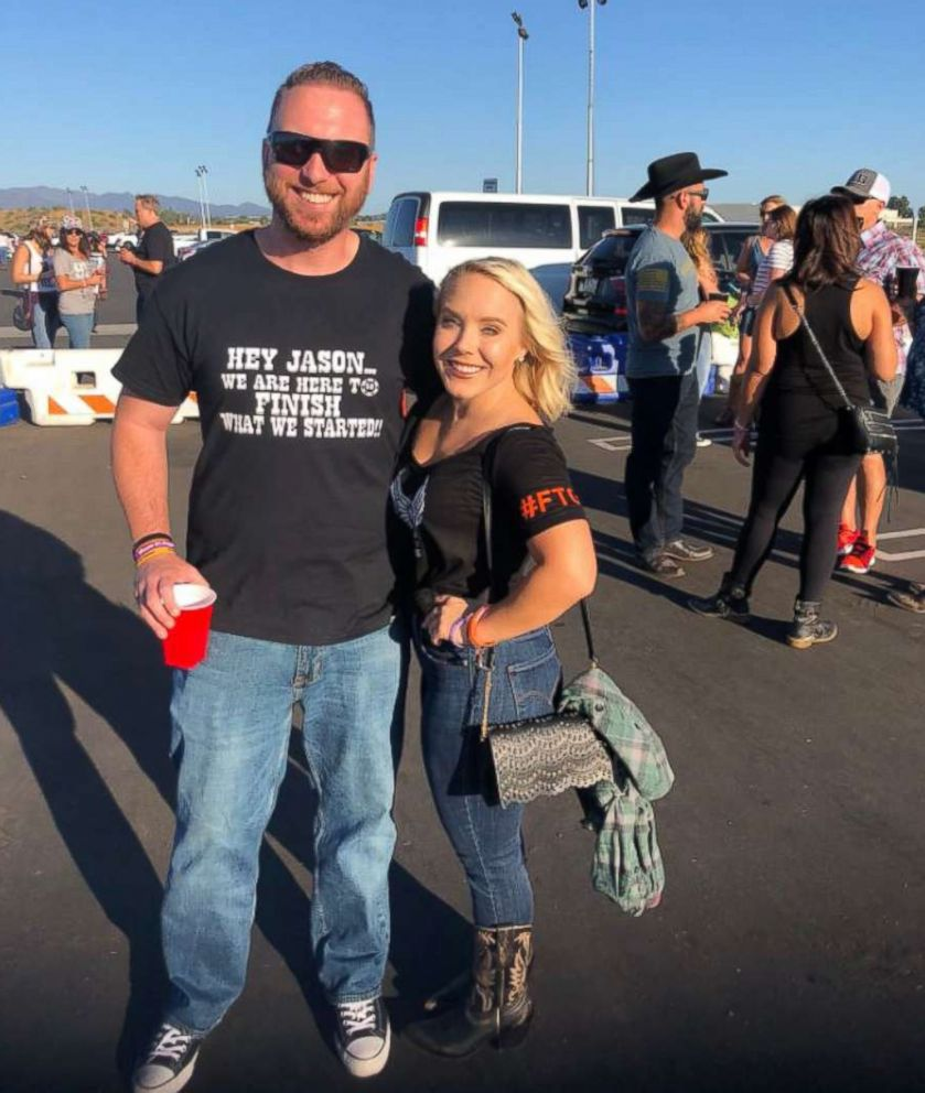 PHOTO: Survivors from the Las Vegas mass shooting showed strength as they attended a Jason Aldean concert nearly one year after the unforgettable massacre.