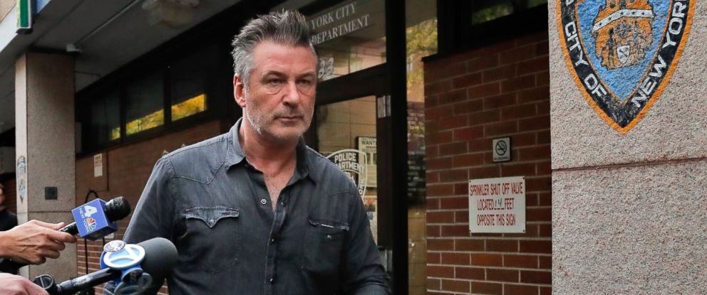 PHOTO: In this Nov. 2, 2018, file photo, actor Alec Baldwin walks out of the New York Police Departments 10th Precinct, in New York, after he was arrested for allegedly punching a man during a dispute over a parking spot, authorities said.