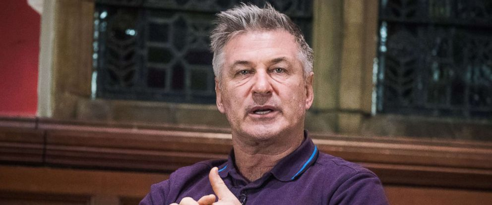 PHOTO: Alec Baldwin speaks at the Oxford Union in the U.K., Jan. 19, 2018.