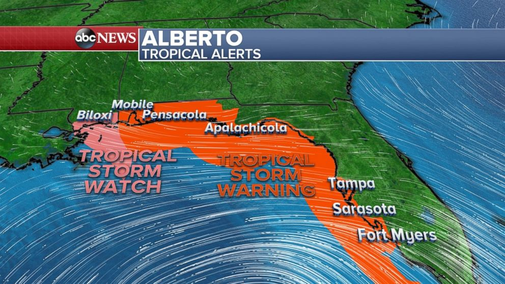 USA  states declare emergency ahead of subtropical storm