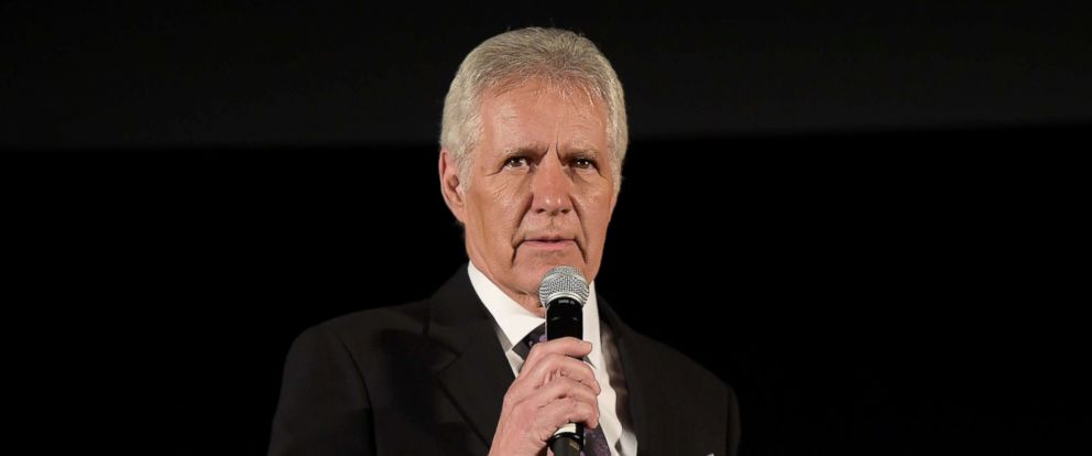 PHOTO: TV personality Alex Trebek speaks at a festival in Los Angeles, March 27, 2015.