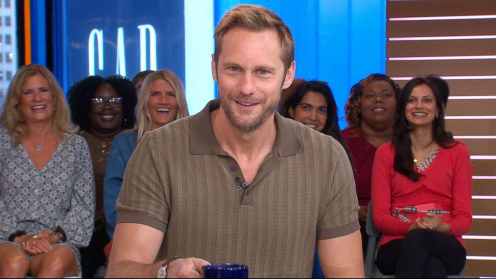 PHOTO: Alexander Skarsgard joined GMA to discuss his new movie Hold the Dark and season 2 of Big Little Lies.