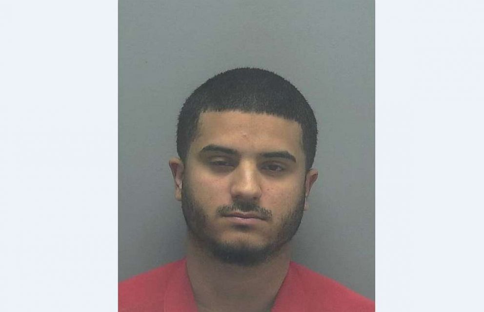 Abraham Duarte, 22, has been charged with possession of a controlled substance and resisting arrest after trying to swim away from police in Cape Coral, Fla., on Saturday, Sept. 1, 2018.