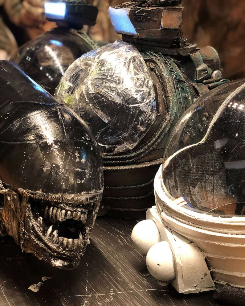 PHOTO: Props from the North Bergen High School production of Alien: The Play, an adaptation of the popular 1979 science-fiction flick.