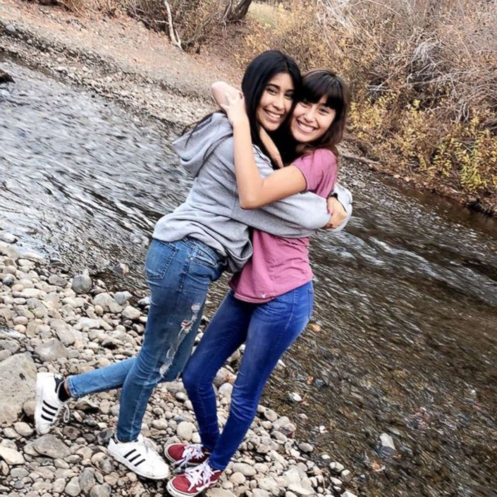 PHOTO: Alyssa Alcaraz, right, with her sister, Mariah.