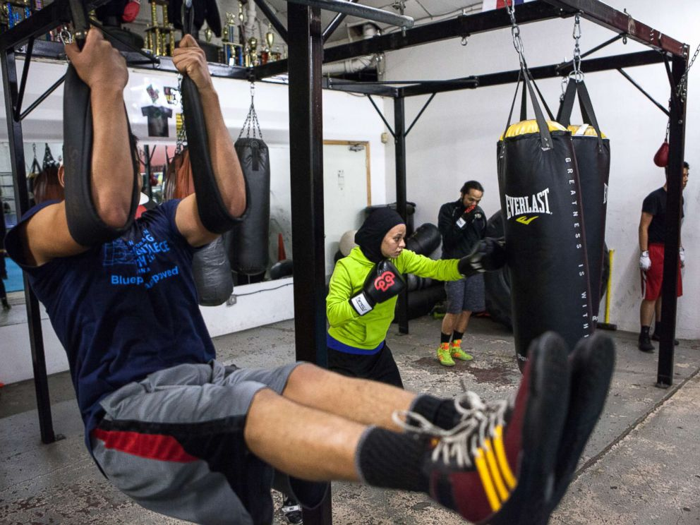 PHOTO: Amaiya Zafar and other boxers train at Circle of Discipline gym.