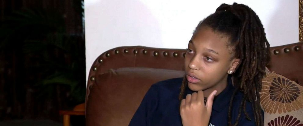 PHOTO: Amari Allen, 12, said a group of male classmates at Immanuel Christian School in Springfield, Virginia, pinned her down and cut her dreadlocks during recess.