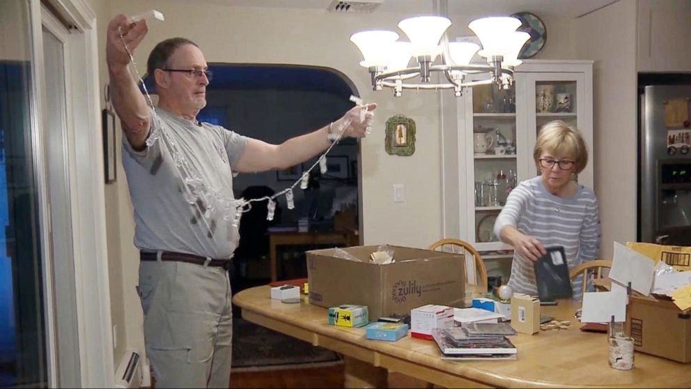 PHOTO: Mike and Kelly Gallivan of Massachusetts say they have received nearly 50 unsolicited packages from Amazon since October 2017.