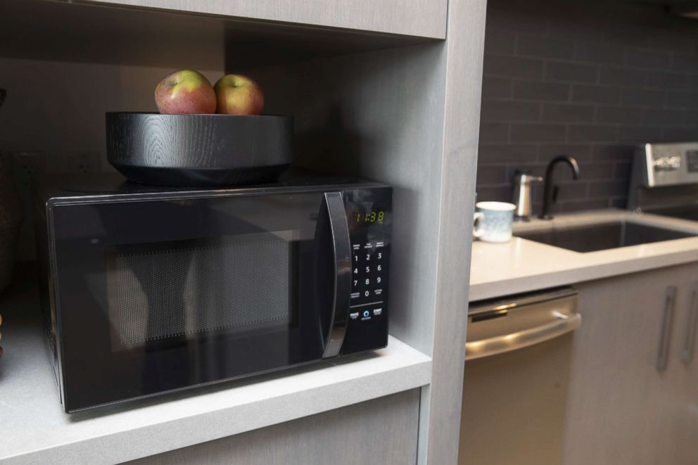 PHOTO: An Amazonbasics Microwave, which can be controlled by Alexa, is pictured at Amazon Headquarters shortly after being launched, on Sept. 20, 2018, in Seattle.