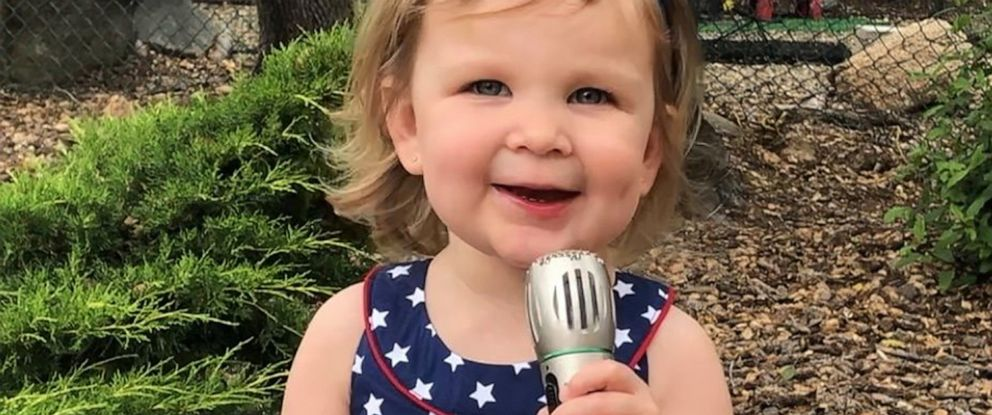 PHOTO: Amelia Bubenik, 2, of Granite Bay, Calif., was captured on viral video in May singing the national anthem by her mother, Amy.