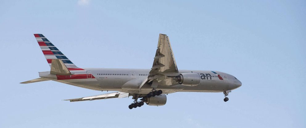 PHOTO: An American Airlines plane with landing gear down in preparation to land is pictured in this undated file photo.