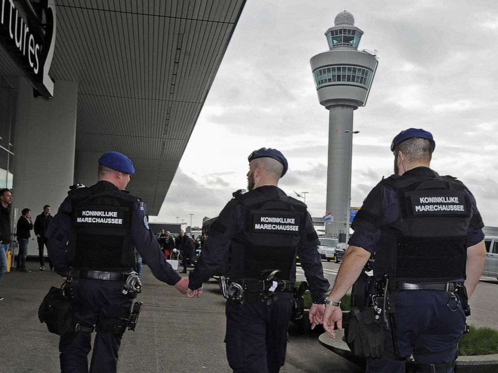 Schiphol Airport on lockdown as plane is 'hijacked by three knifemen'