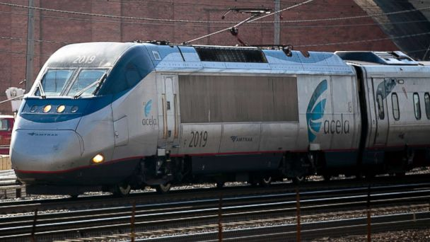 Amtrak cars separate on Boston-bound Acela train