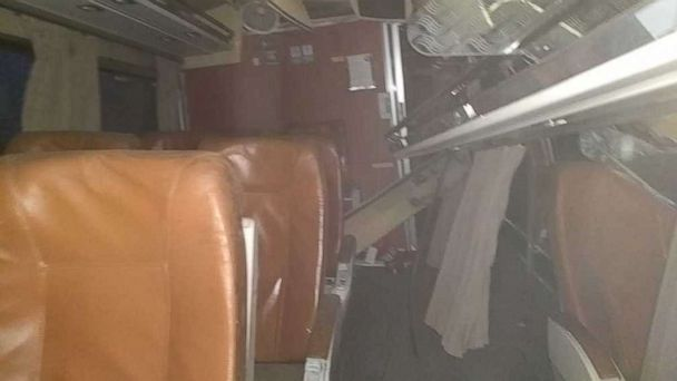 See photos taken from inside the wrecked Amtrak train in Washington state
