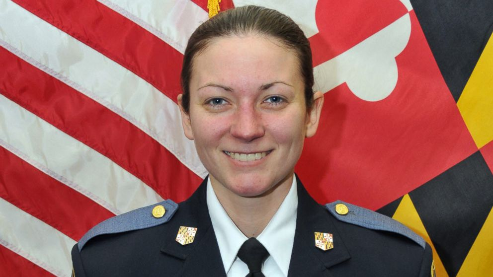 Baltimore County police officer Amy Caprio was hit by a car and killed in the line of duty, May 21, 2018.