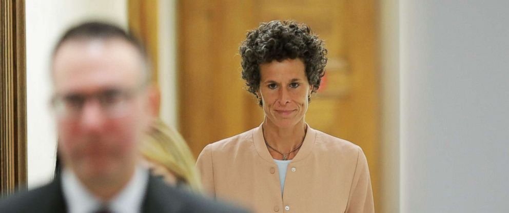 PHOTO: Andrea Constand, key witness in the case against actor and comedian Bill Cosby, leaves the courtroom during a recess on the sixth day of Cosbys sexual assault retrial at the Montgomery County Courthouse in Norristown, Pa., April 16, 2018.