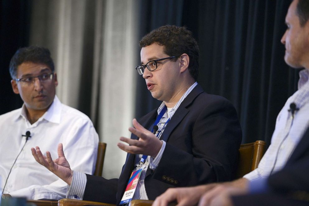 PHOTO: Andrew Freedman, Director of Marijuana Coordination, Office of the Governor, State of Colorado, speaks during the Aspen Ideas Festival 2015 in Aspen, Colo., July 3, 2015.