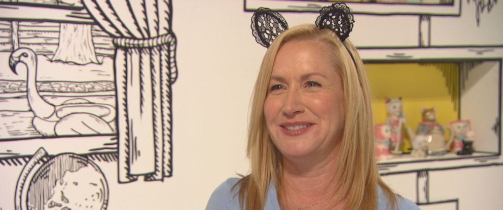 "PHOTO: Angela Kinsey, a real-life cat-lady version of her character, Angela Martin, said she was attending CatCon because she is ""a real cat lady. I love my cat people."""