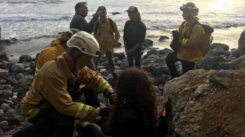 Andrea Hernandez was rescued at the bottom of a cliff Friday, July 13, 2018, after she disappeared a week ago.