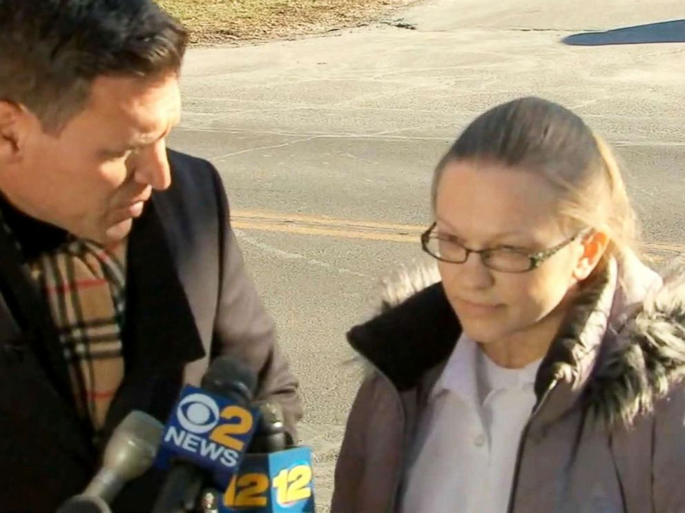 PHOTO: Angelika Graswald speaks to the press after her release from the Bedford Hills Correctional Facility in Westchester County, N.Y., Dec. 12, 2017.