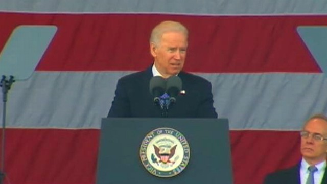 VIDEO: Vice president says Tsarnaev brothers are misguided apostles of an honorable faith.