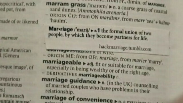 Dictionary Hackers Update Meaning of Marriage