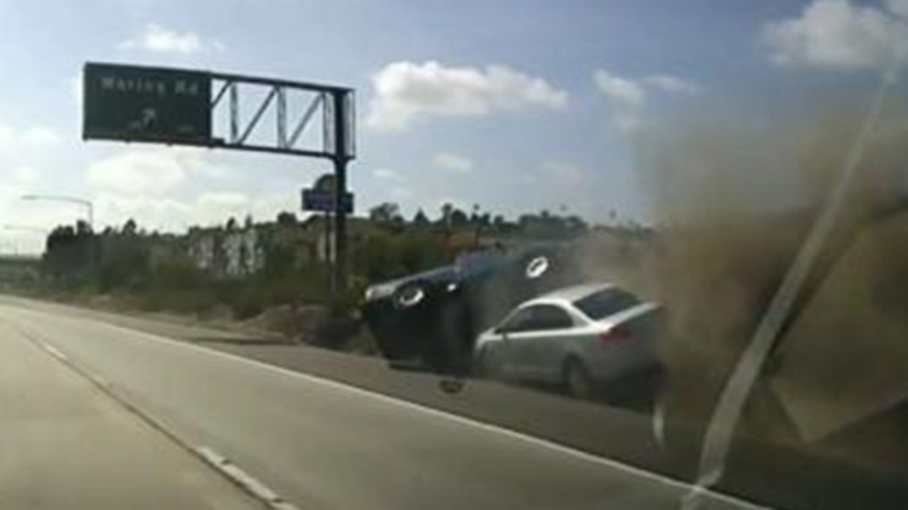 Did Road Rage Cause Two Vehicles To Tumble Off A California Highway
