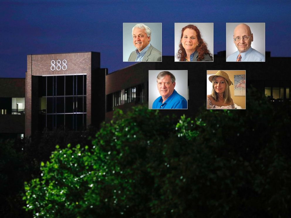 PHOTO: A building housing The Capital Gazette newspapers offices is seen at dawn, June 29, 2018, in Annapolis, Md. Rob Hiaasen, Wendi Winters, Gerald Fischman, John McNamara and Rebecca Smith were victims in the shooting at the newspaper, June 28, 2018.