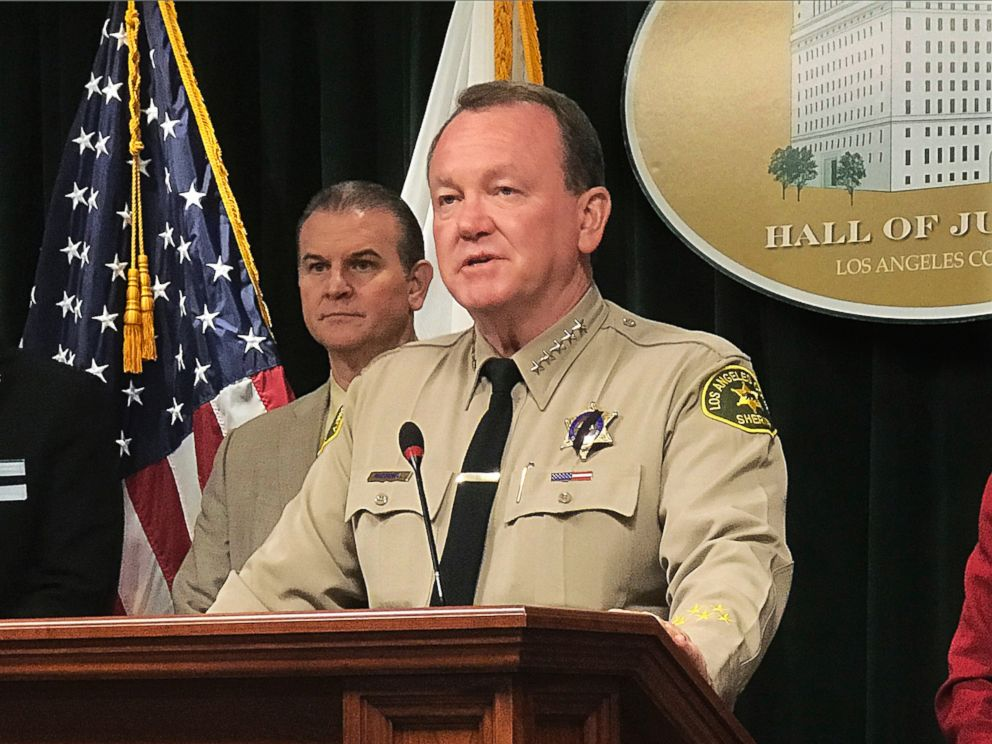Los Angeles County Sheriff Jim McDonnell talks to reporters about the case of a 10-year-old boy who died after suffering head injuries, at a news conference at the Hall of Justice in Los Angeles, Wednesday, June 27, 2018.