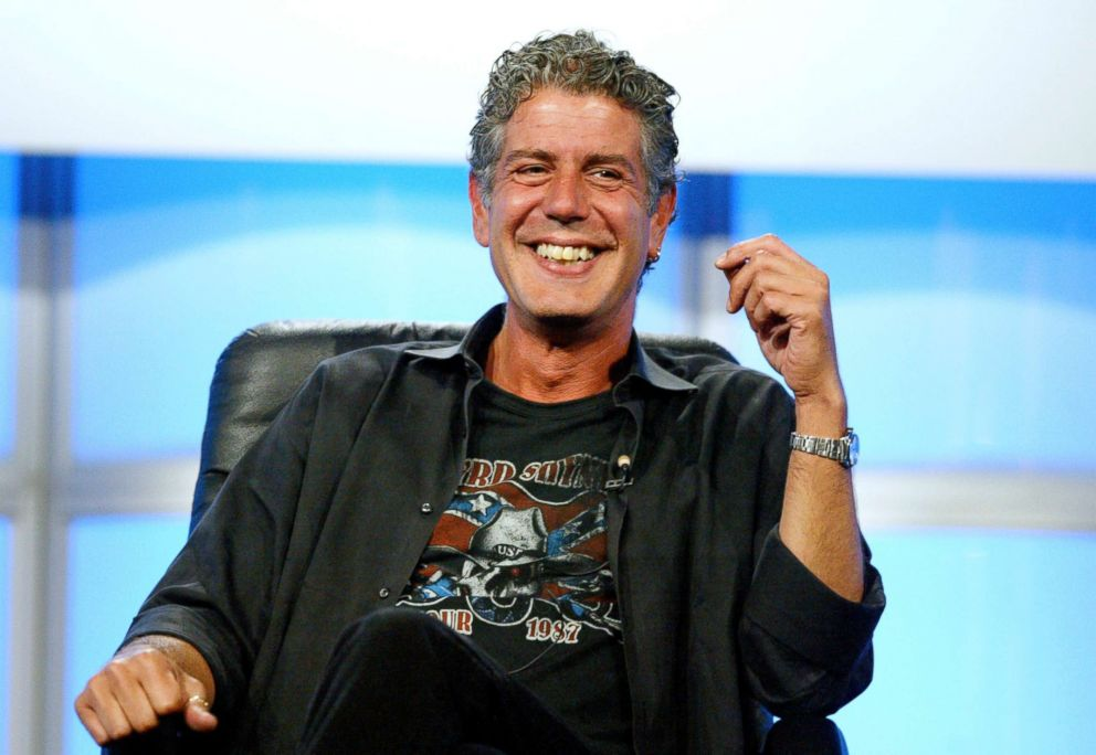 PHOTO: Anthony Bourdain attends a panel discussion for Anthony Bourdain: No Reservations at the Beverly Hilton Hotel on July 16, 2005 in Beverly Hills, Calif.
