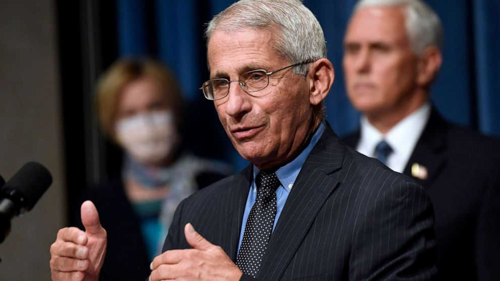 Dr. Fauci: Wear goggles or eye shields to prevent spread of COVID-19; flu vaccine a must