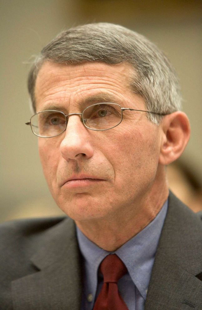 PHOTO: Anthony S. Fauci, director of National Institute of Allergy and Infectious Disease for National Institutes for Health, listens to questions during a hearing of the House International Relations Committee on Capitol Hill, Dec. 7, 2005 in Washington.