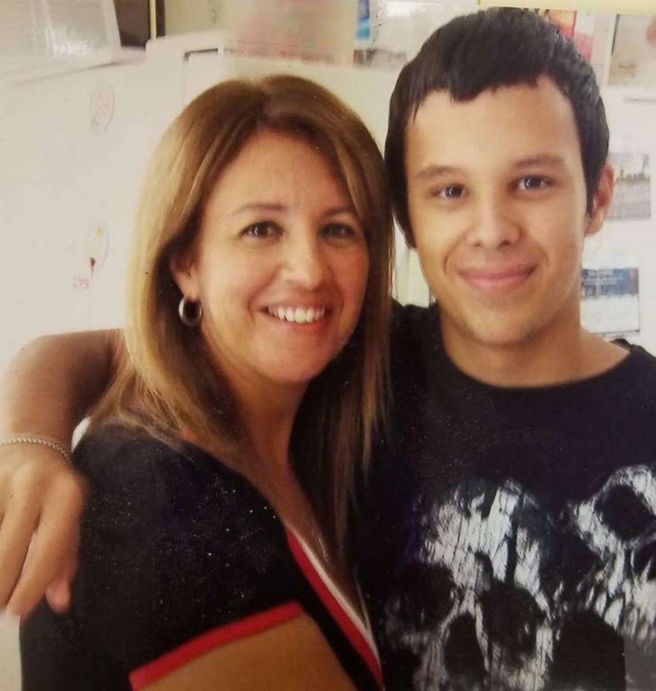 """Anthony """"DJ SonicC"""" Rodriguez, 22, and his mother Rita Marti."""