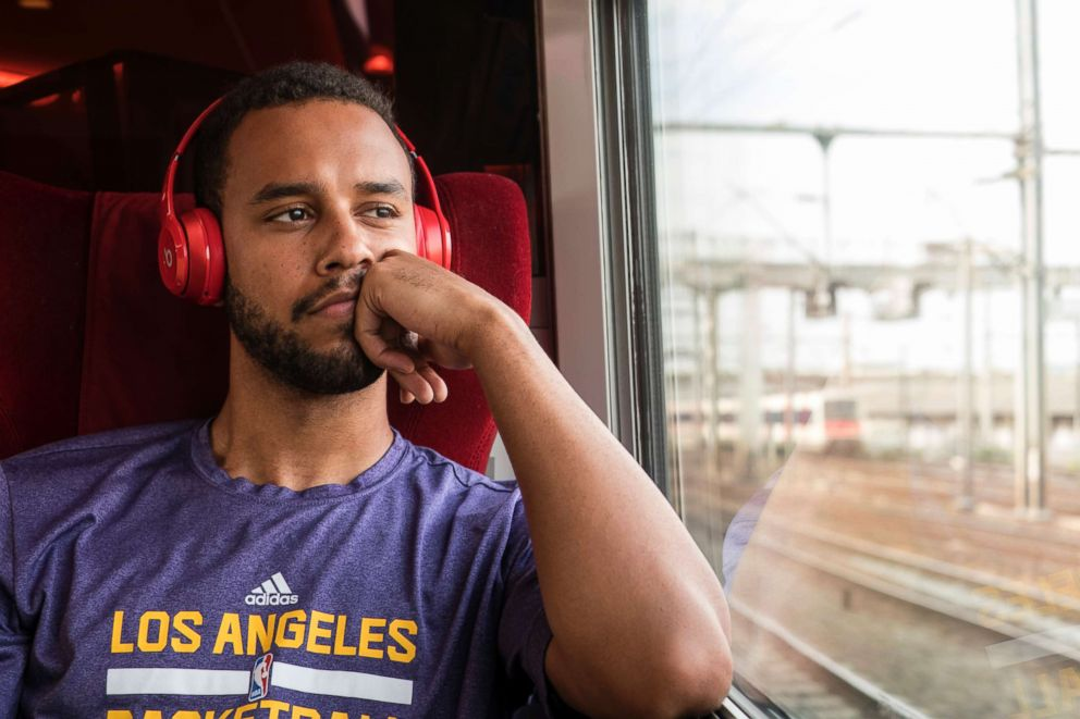 PHOTO: Anthony Sadler in a scene from The 15:17 To Paris.