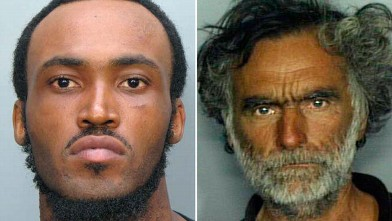PHOTO: This combo made with undated photos made available by the Miami-Dade Police Dept. shows Rudy Eugene, 31, left, who police shot and killed as he ate the face of Ronald Poppo, 65, right, during a horrific attack in the shadow of the Miami Herald's he