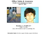 PHOTO: Dzhokhar A. Tsarnaev, is seen in this wanted poster, is one of the suspects in the Boston Marathon bombings. Authorities say Tsarnaev is still at large, April 19, 2013.