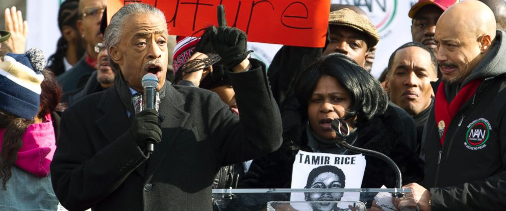 PHOTO: Rev. Al Sharpton speaks at Freedom Plaza in Washington on Dec. 13, 2014, during the Justice for All march and rally.